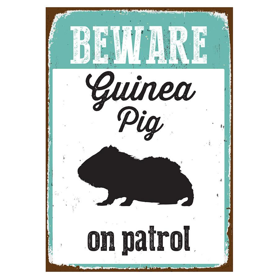 Beware Sign Guinea Pig 'Tin' NMS405
