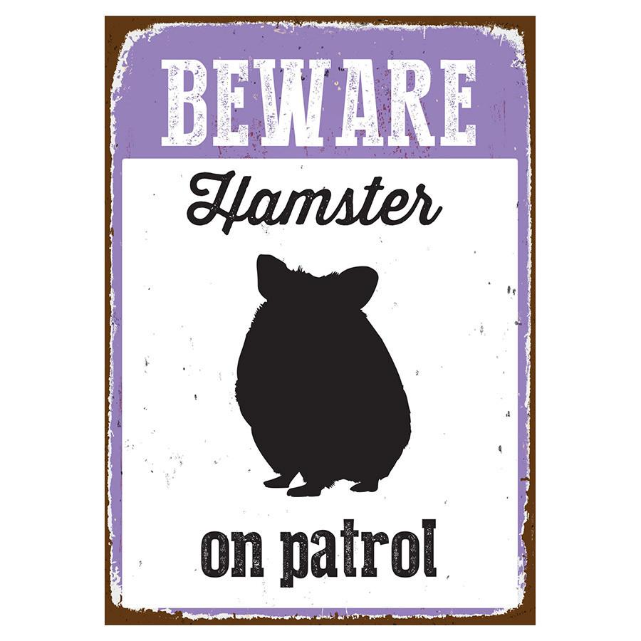 Beware Sign Hamster 'Tin' NMS410