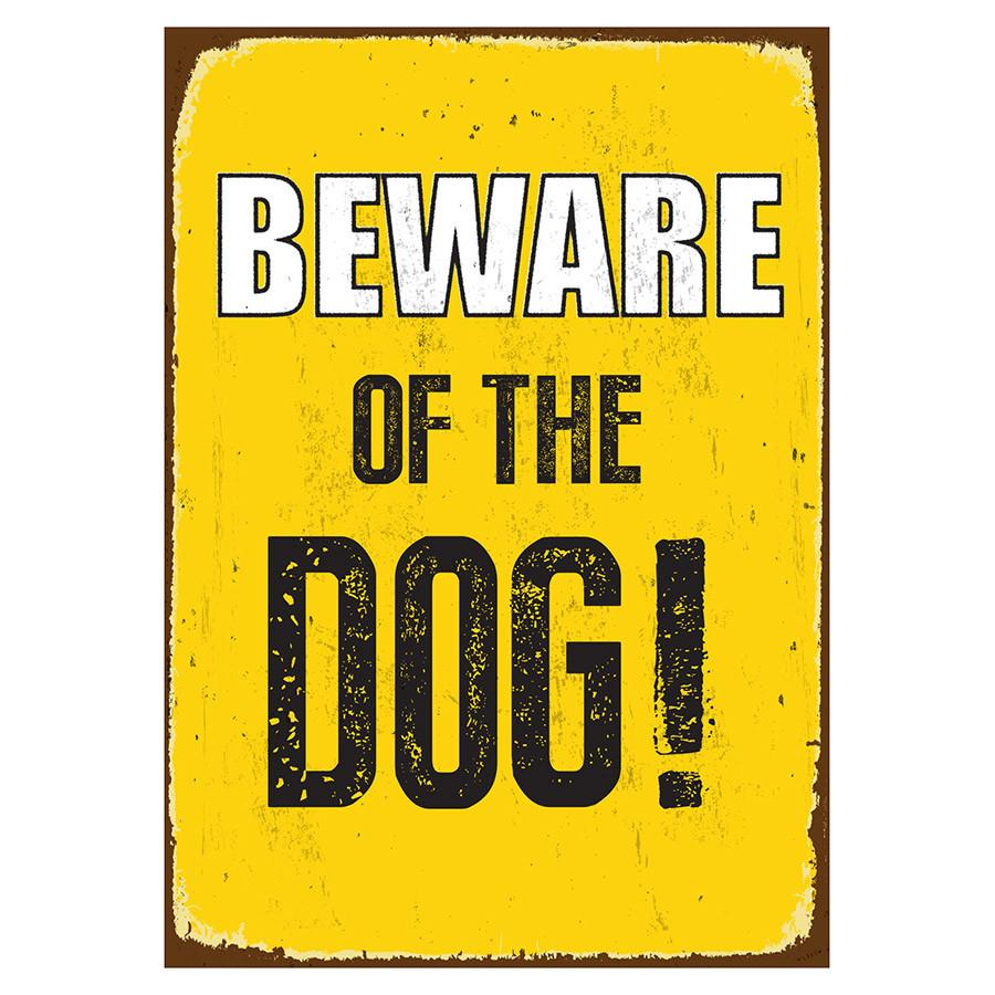Beware Sign of the Dog 'Tin' NMS435